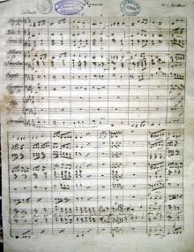 Originale Notenhandschrift von Valentin Eduard Becker