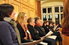 Probe im Pfarrsaal von St. Peter und Paul, März 2011 - Alt