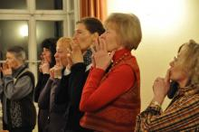 Probe im Pfarrsaal von St. Peter und Paul, März 2011 - Sopran